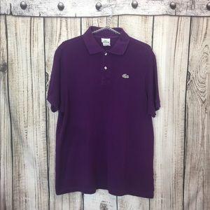 Lacoste Purple Polo Shirt Size 7 Large